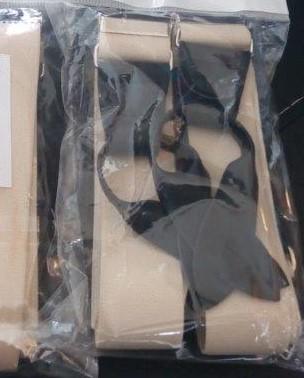 Pánské šle - kšandy s poutky Y 30 mm, 115 cm béžové
