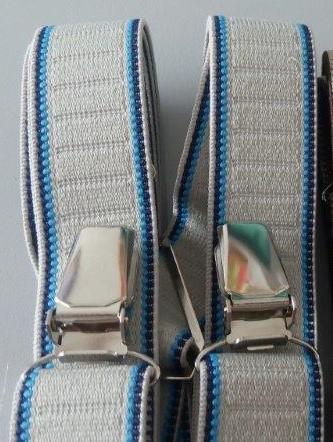 Pánské šle - kšandy 25 mm X, 115 cm šedá