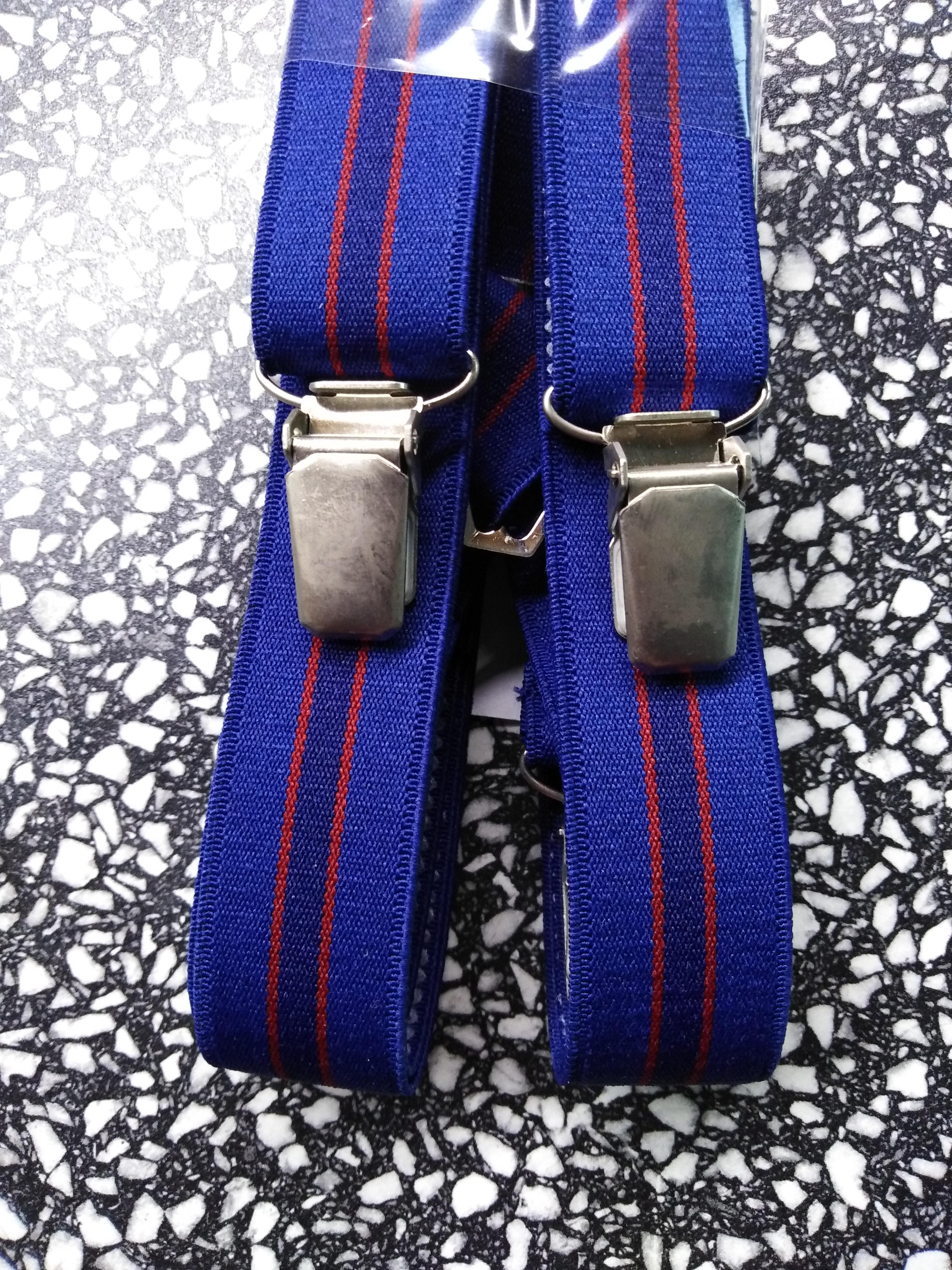 Pánské šle - kšandy 25 mm X, 115 cm tmavě modré