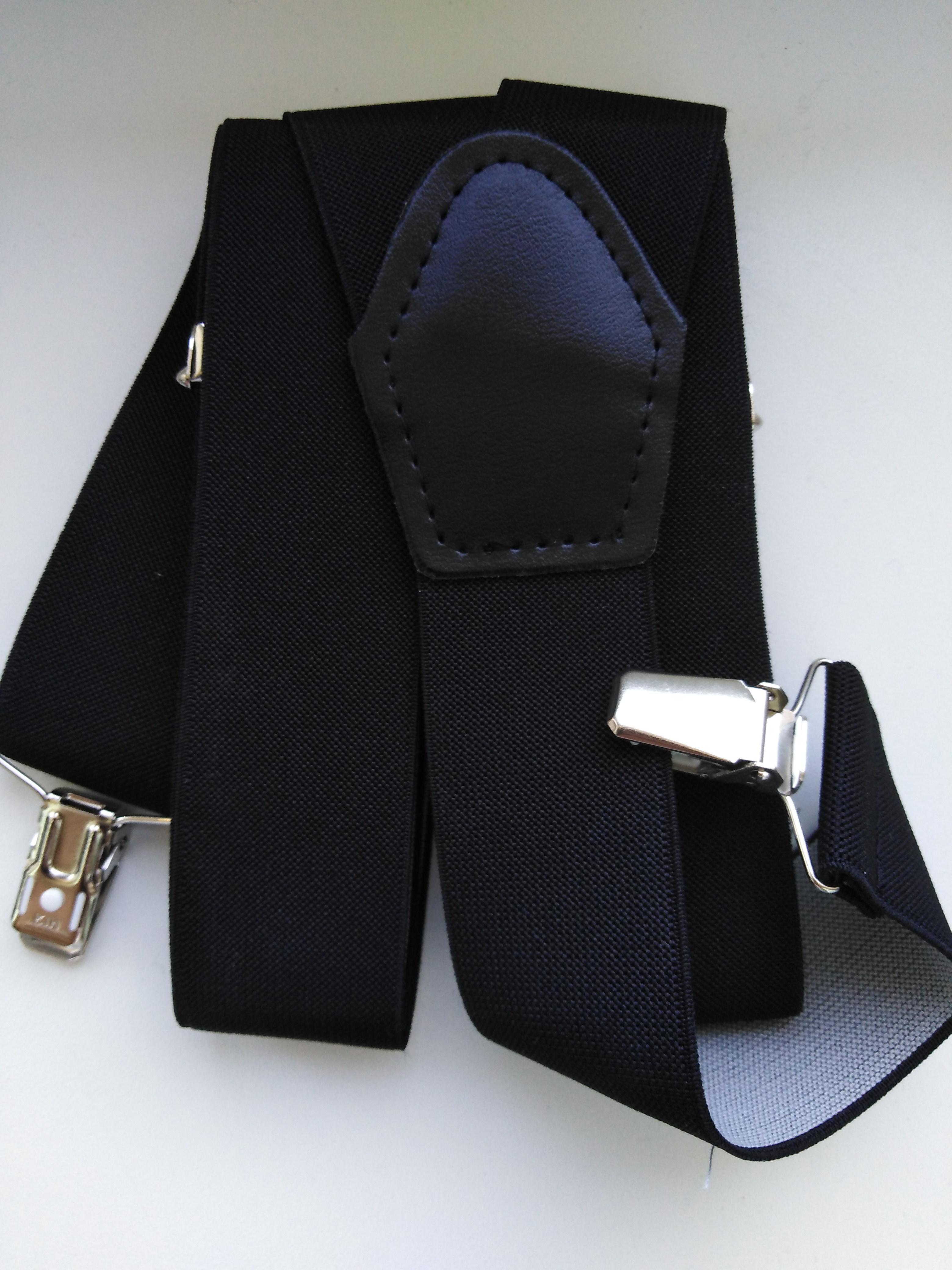 Pánské šle - kšandy 35 mm Y, 115 cm černé