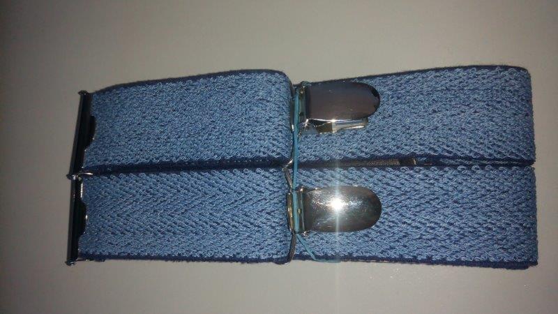 Pánské šle - kšandy jeans 30 mm - Y 120 cm světle modré