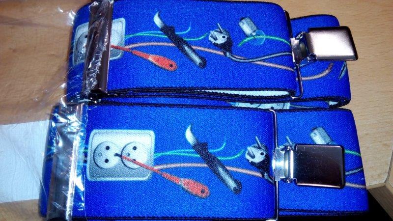 Pánské šle - kšandy 50 mm Y 120 cm povolání elektrikář
