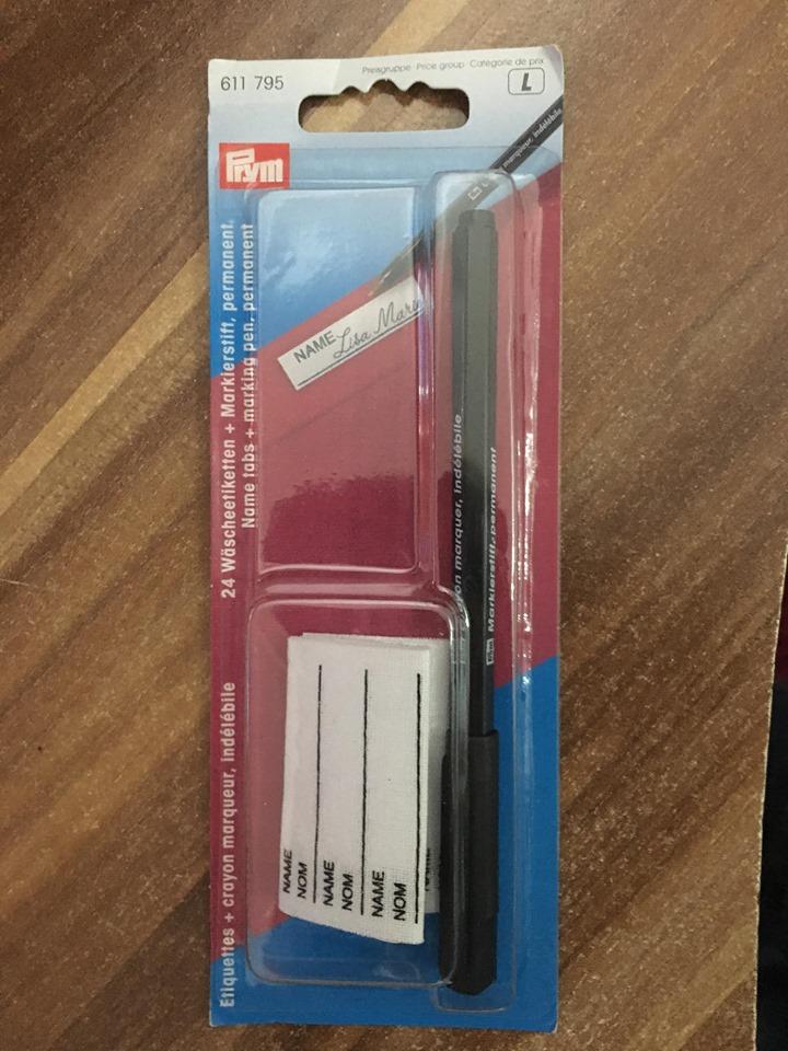 Pero na značení prádla + 24 nažehlovacích štítků