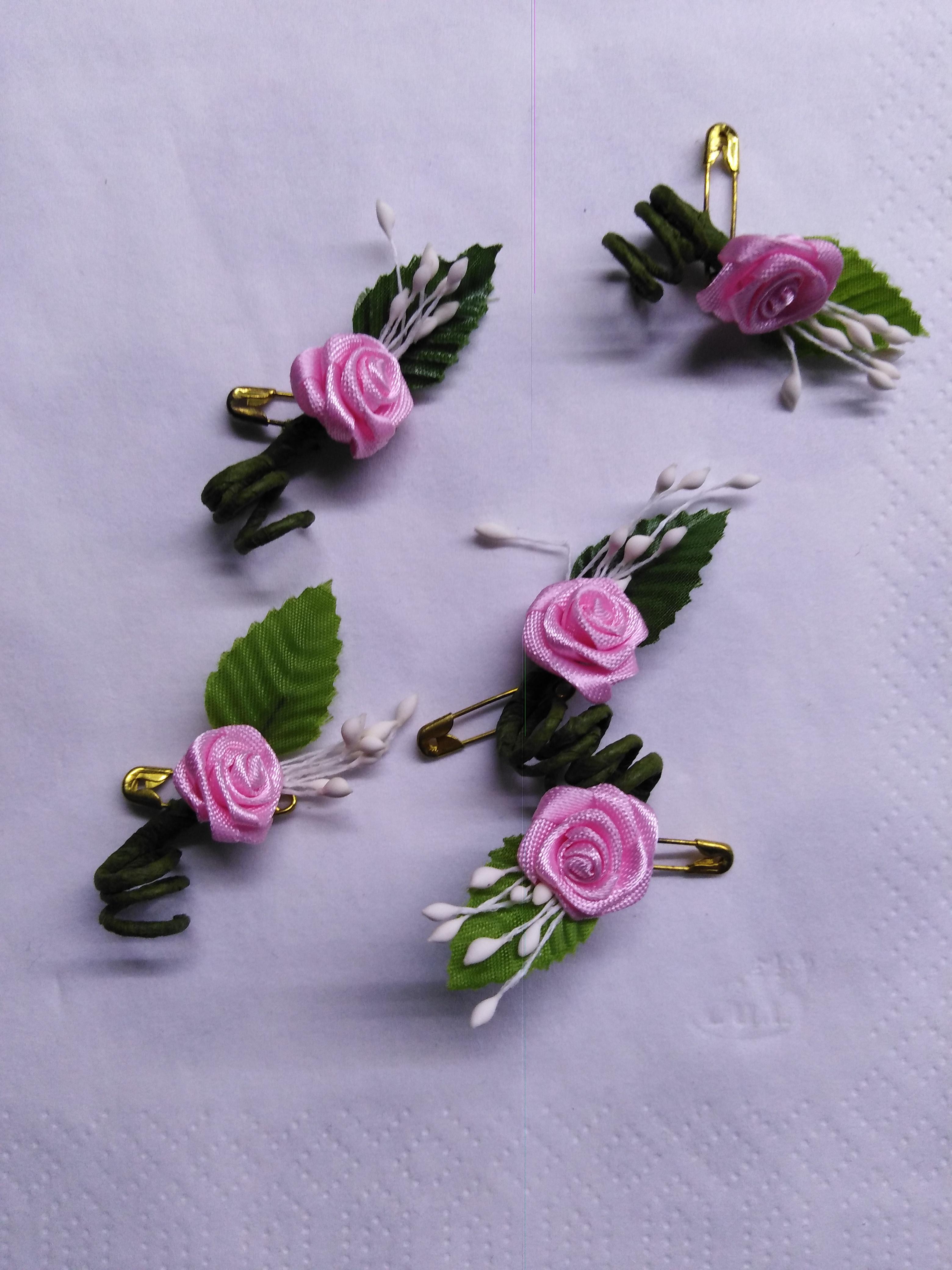 Růžička svatební ozdobná světle růžová