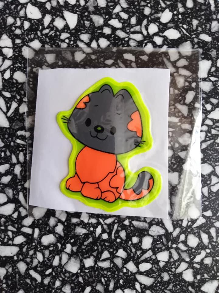 Samolepky reflexní zvířátka - kočička