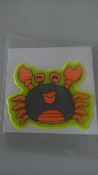 Samolepky reflexní zvířátka - krab