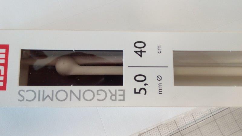 Jehlice pletací ergonomická 3 mm/40 cm