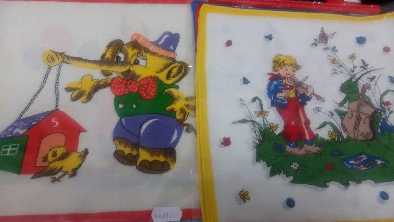 Kapesník dětský tisk 6 ks taška