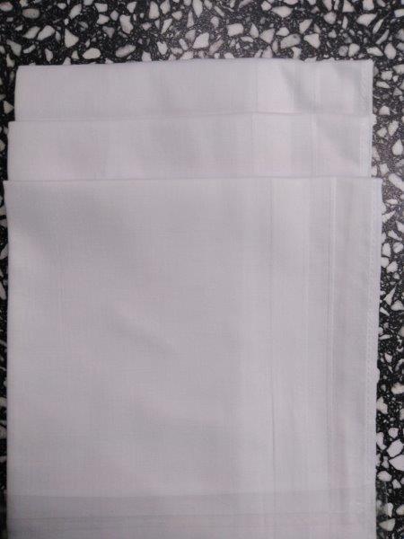 Kapesník dámský bílý balení 6 kusů