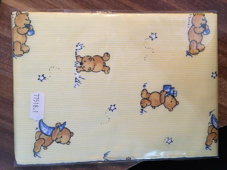Kapesník dětský tisk - balení 3 ks Medvídek žlutý