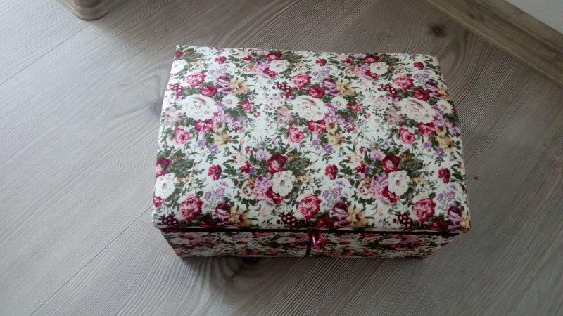 Kazeta na šití obdélníková textilní