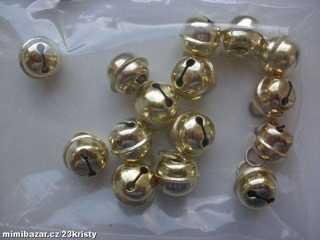 Kovová rolnička 12 mm zlatá