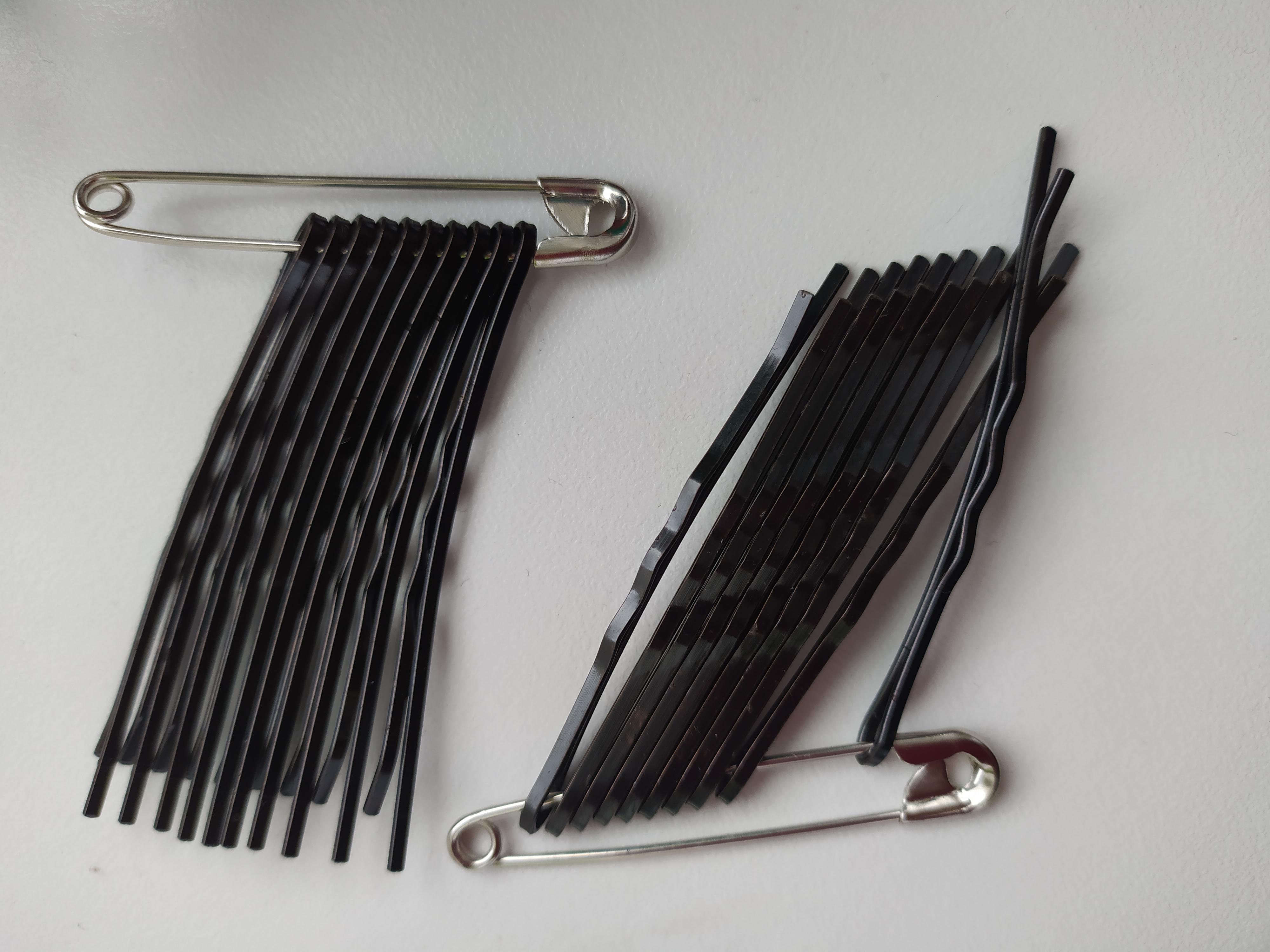 Sponky vlasové 6 mm černá ocel