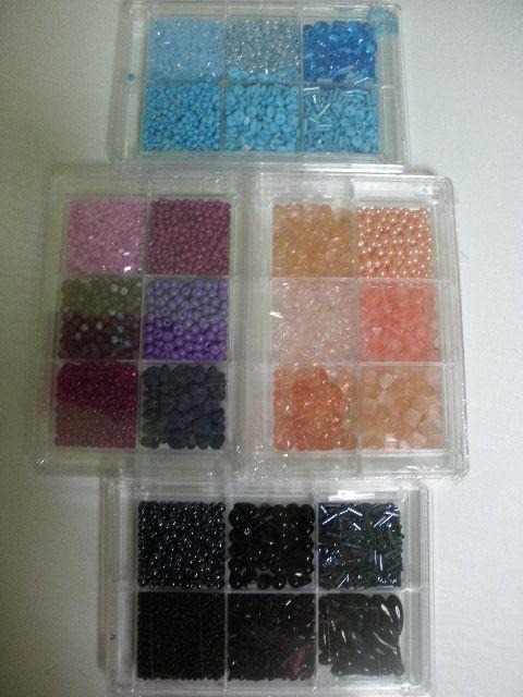 Skleněné perličky - korálky luxus 100 g modré