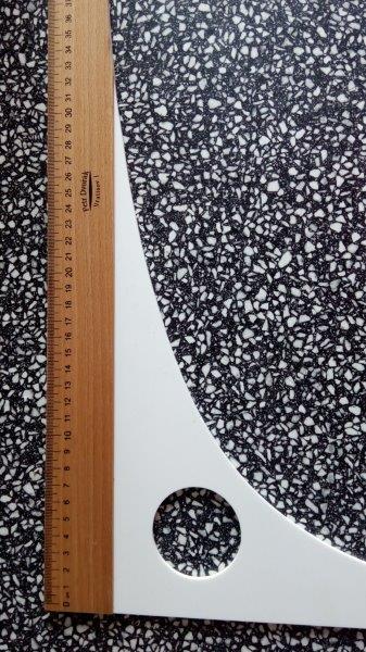 Příložník krejčovský 100 x 25 cm