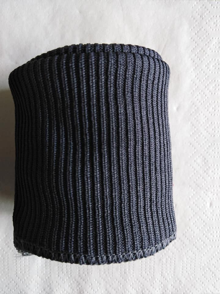 Náplety polyesterové - 2x rukáv, 1x pas, tmavě šedé