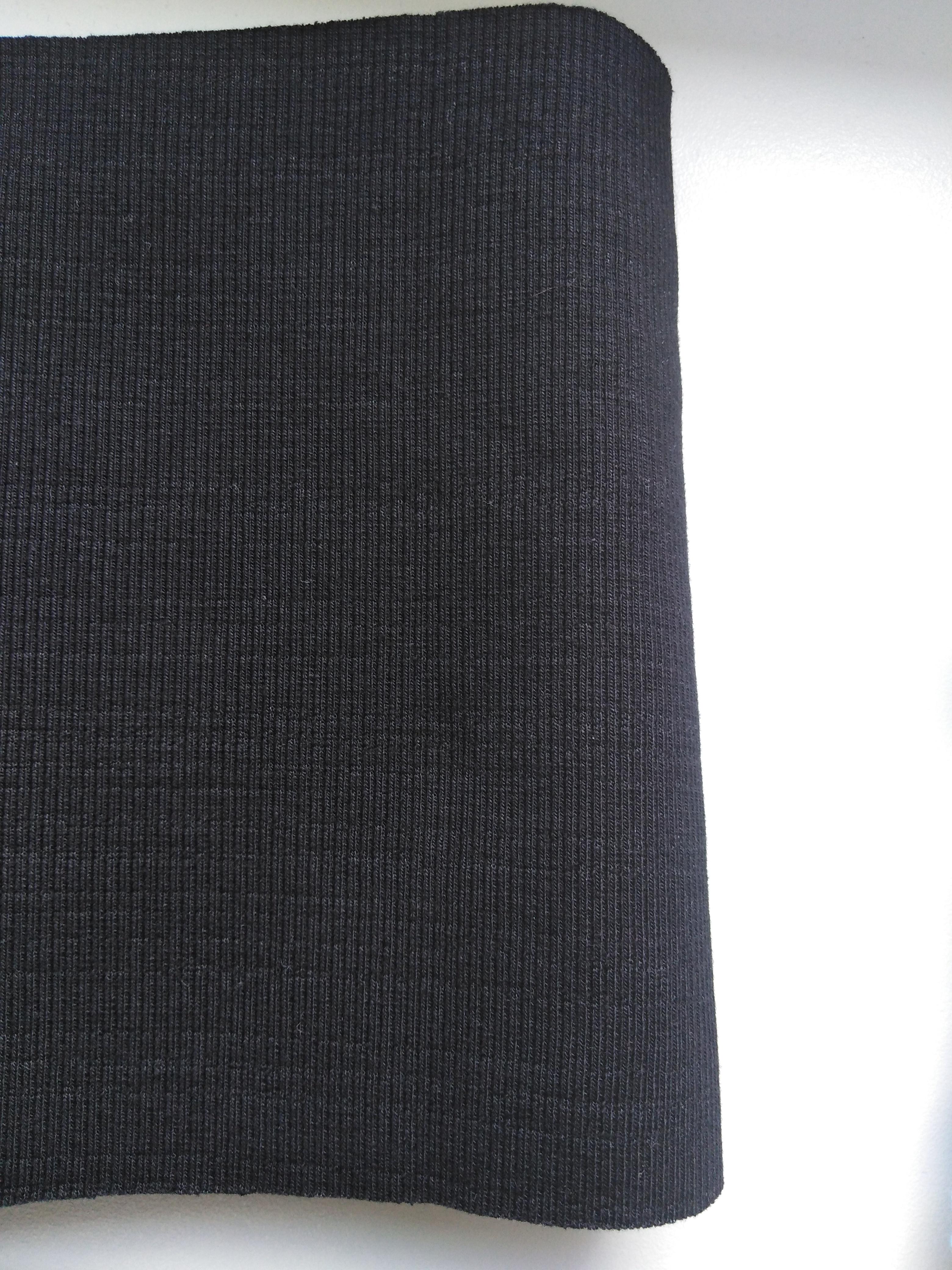 Náplet bavlněný odstřih černý 80 x 16 cm