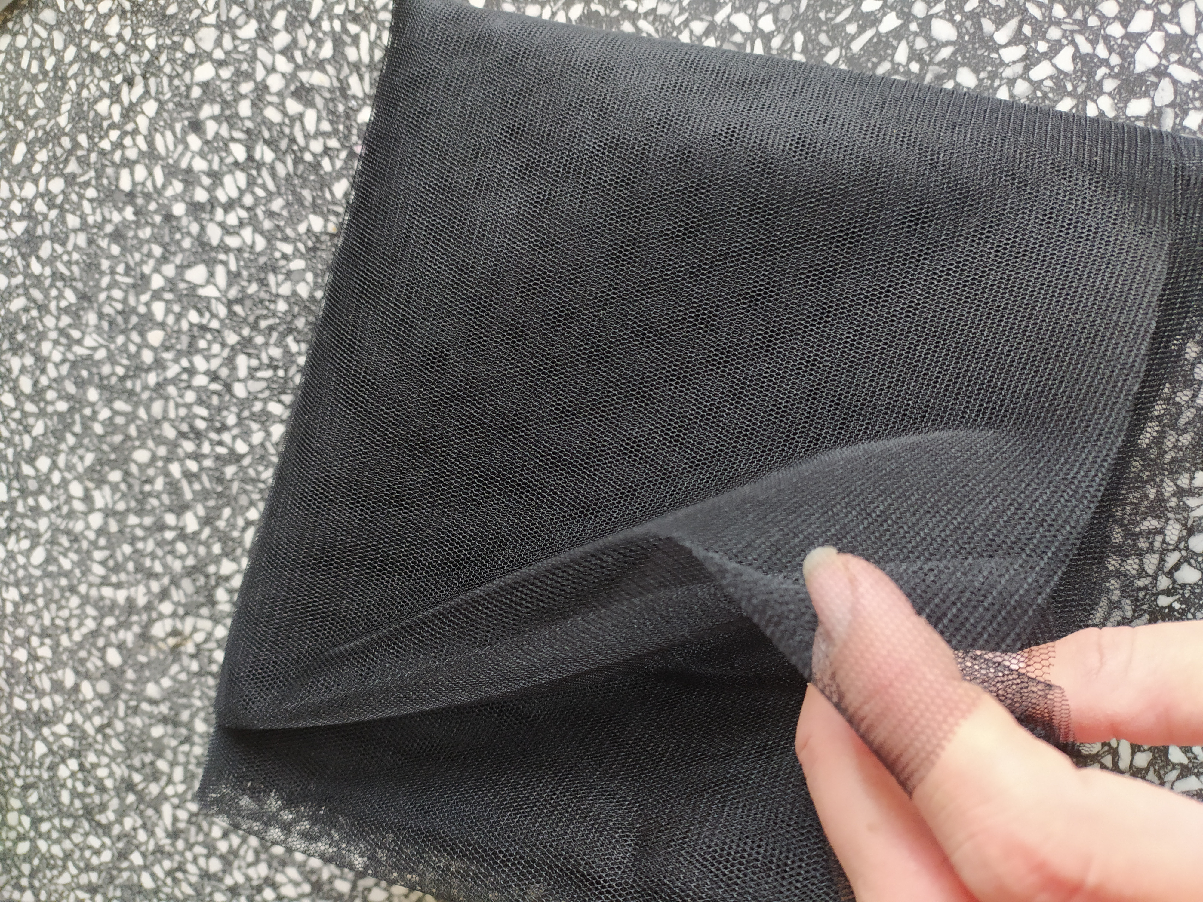 Tyl pletený PAD š. 160 cm x 0,5 m černý