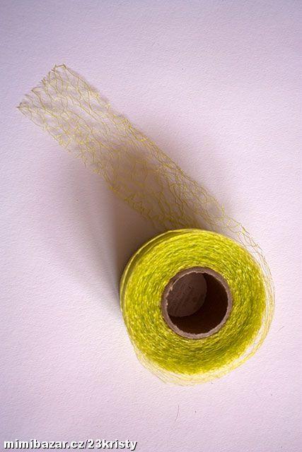 Stuha pavučinka netkaná 40 mm žlutozelená