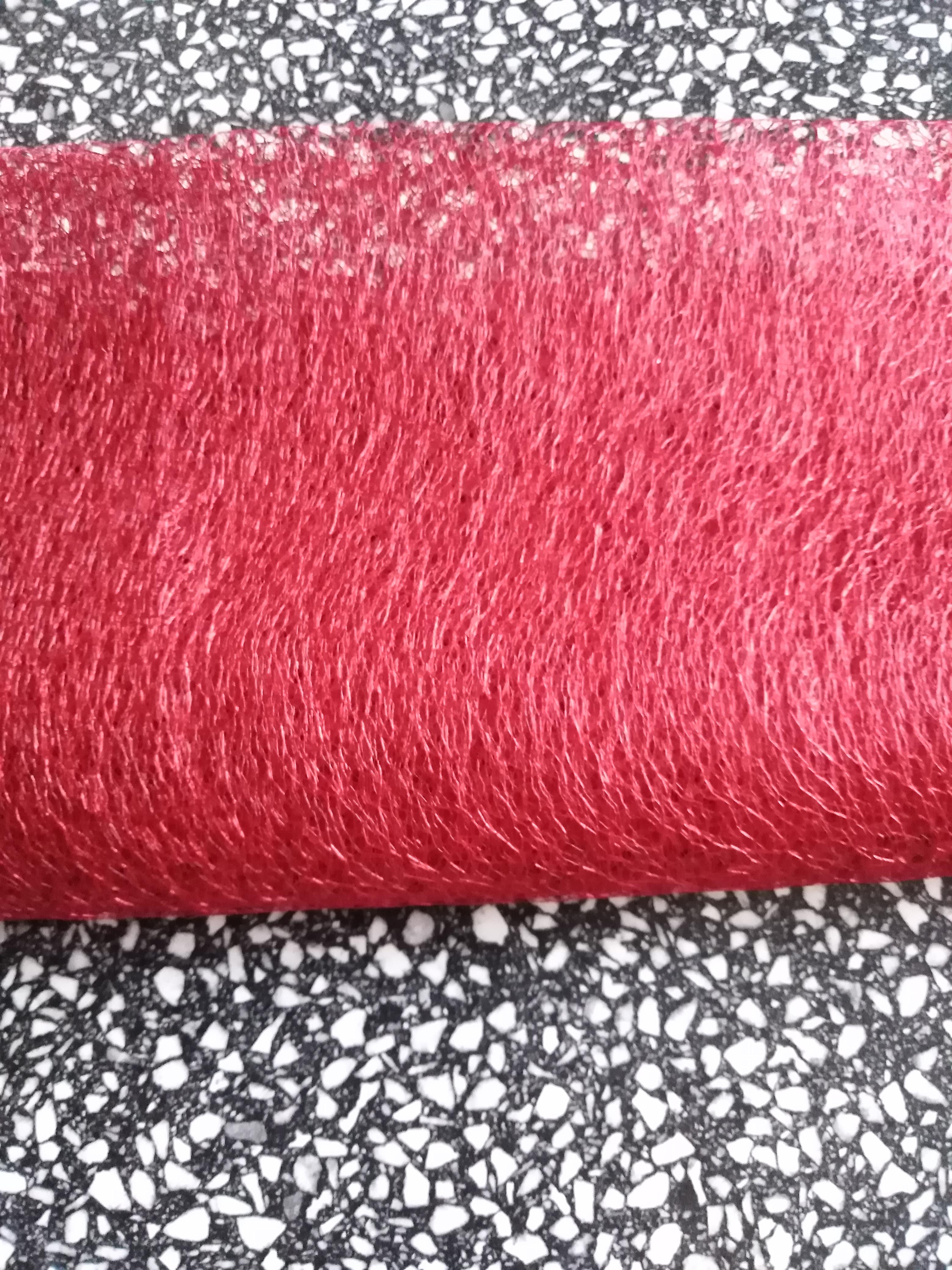 Organza pavučinka šíře 37-40 cm červená