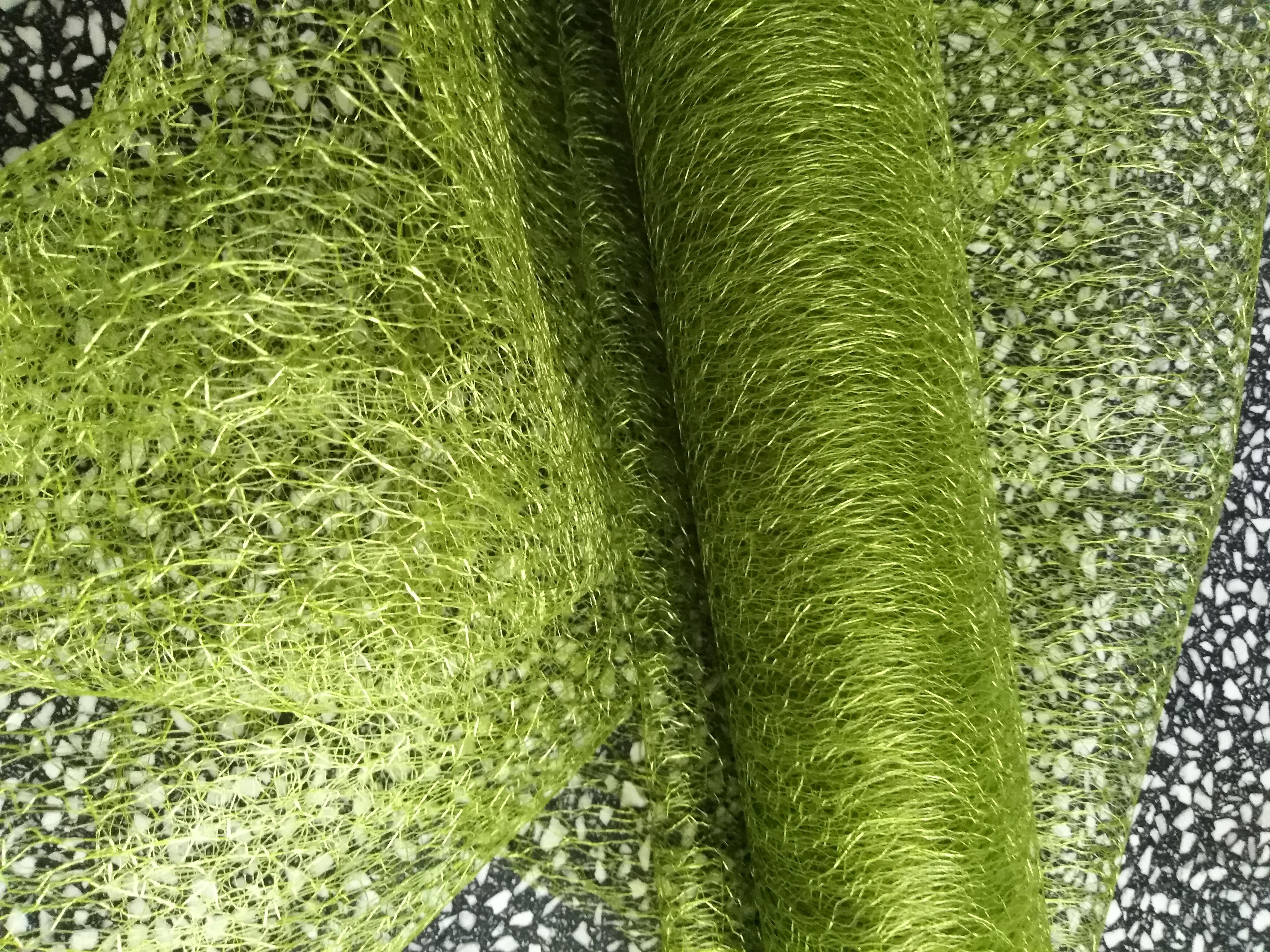 Organza pavučinka šíře 37-40 cm khaki