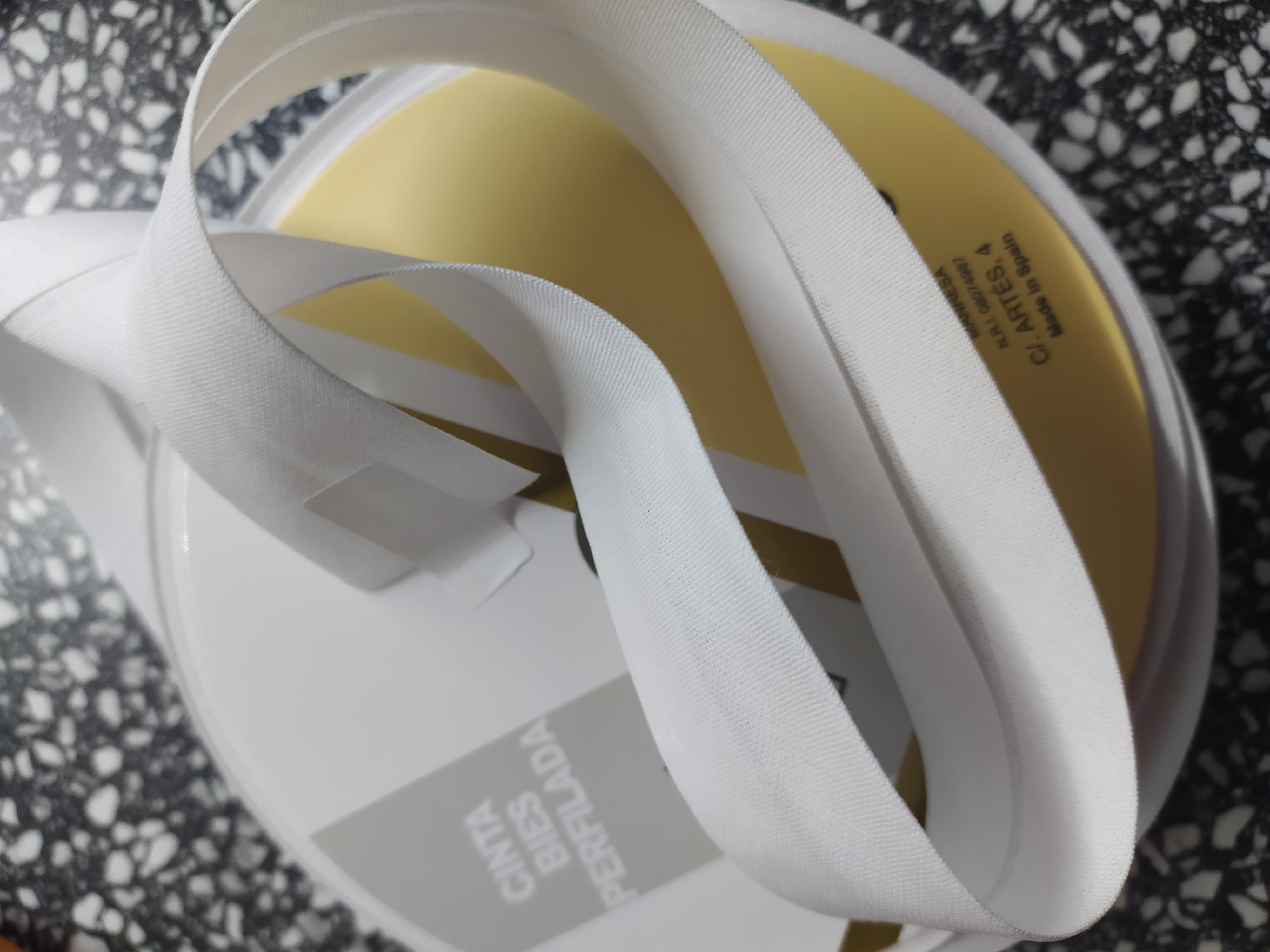 Šikmý proužek 30 mm bavlněný bílý