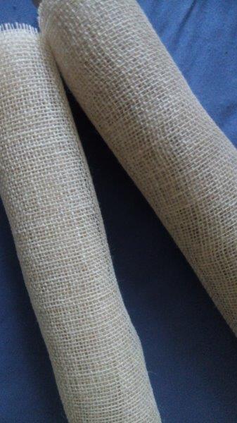 Jutová tkanina šíře 48 cm bělená
