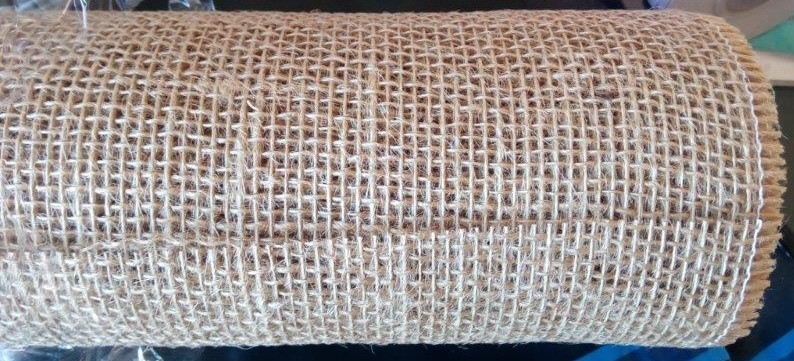 Jutová tkanina šíře 48 cm režná