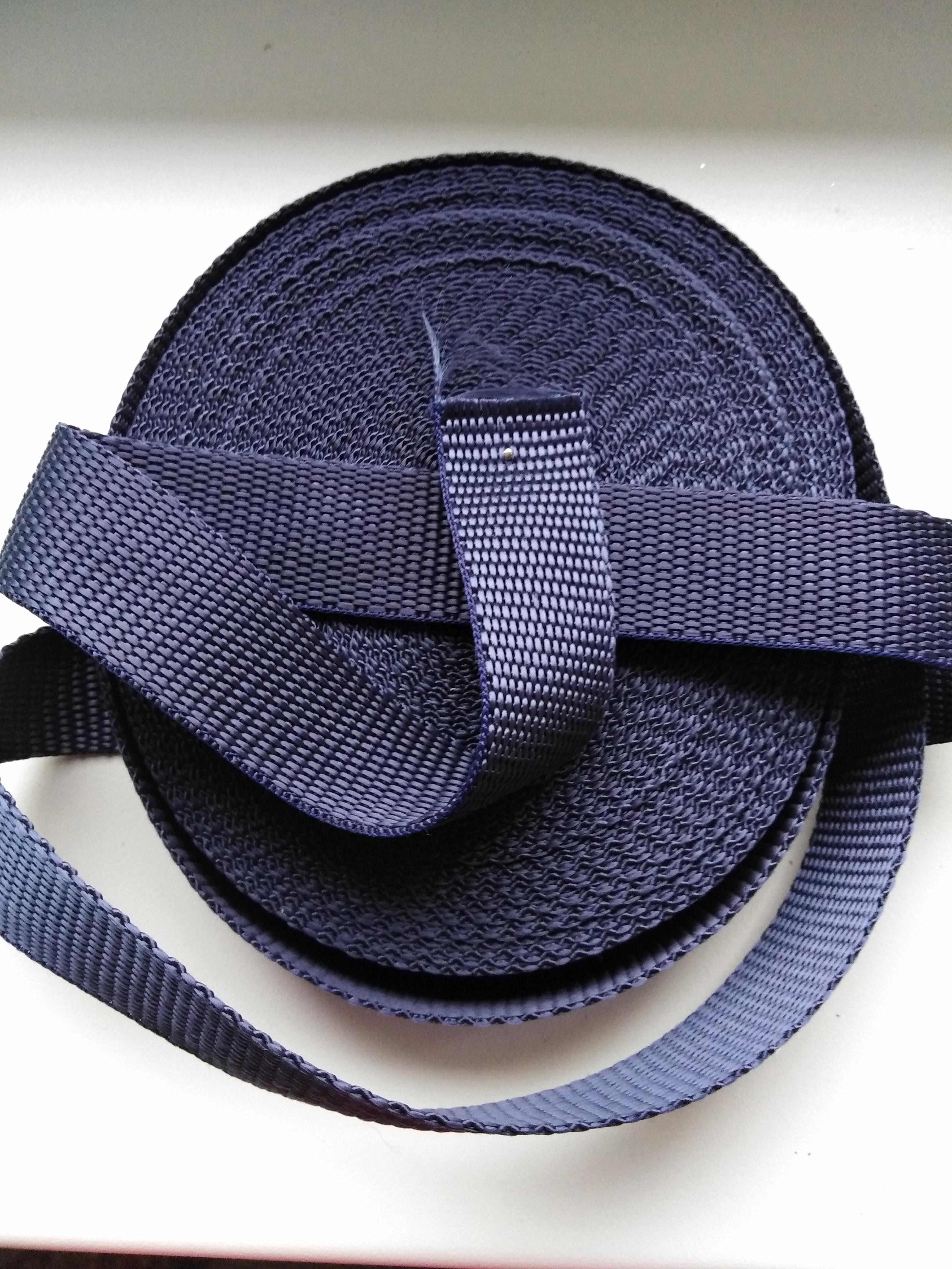 Popruh polypropylenový 25 mm tmavě modrý