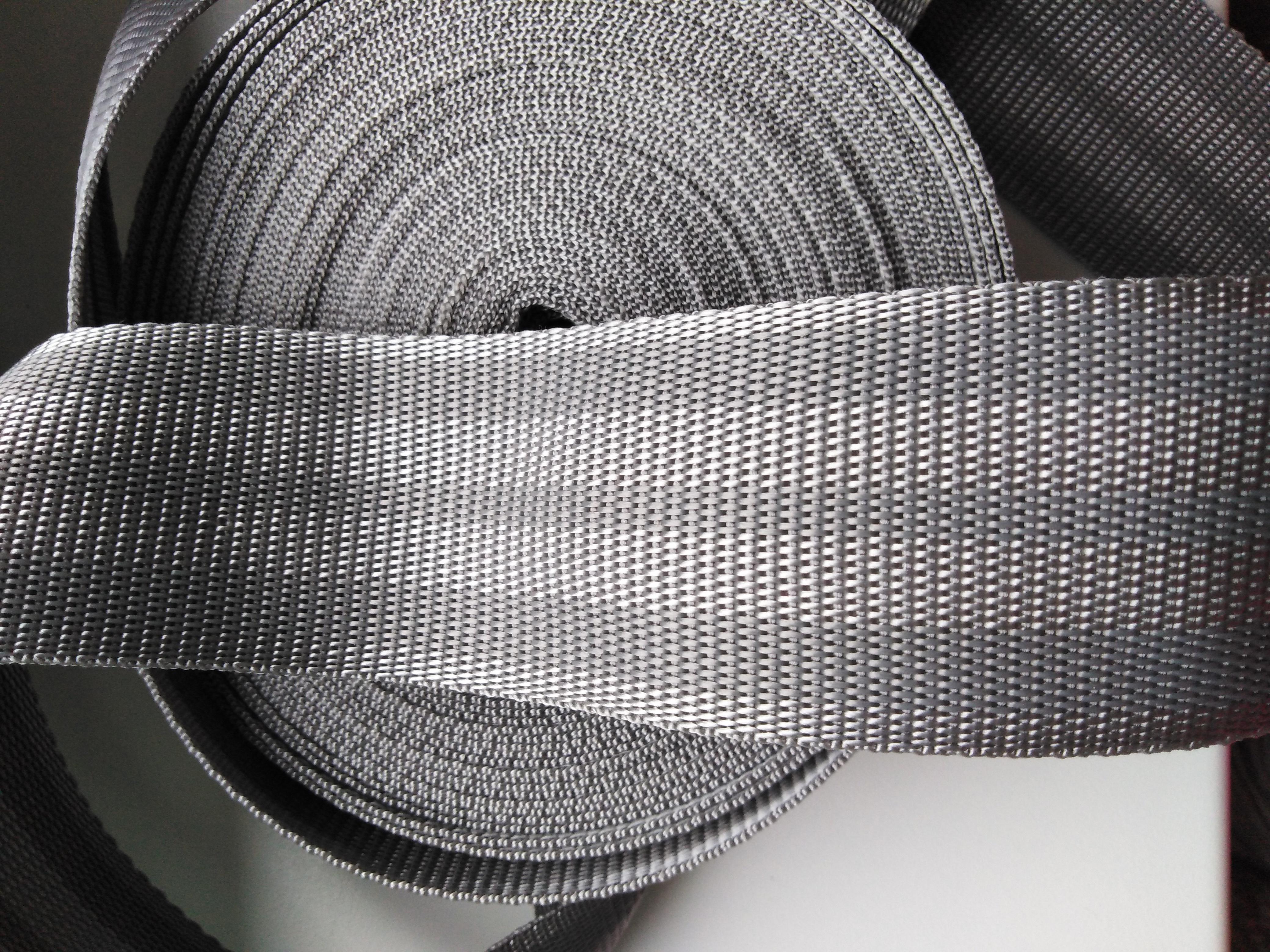 Popruh polypropylenový 50 mm šedá+šedá