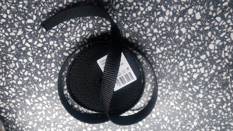 Popruh polypropylenový 25 mm černý