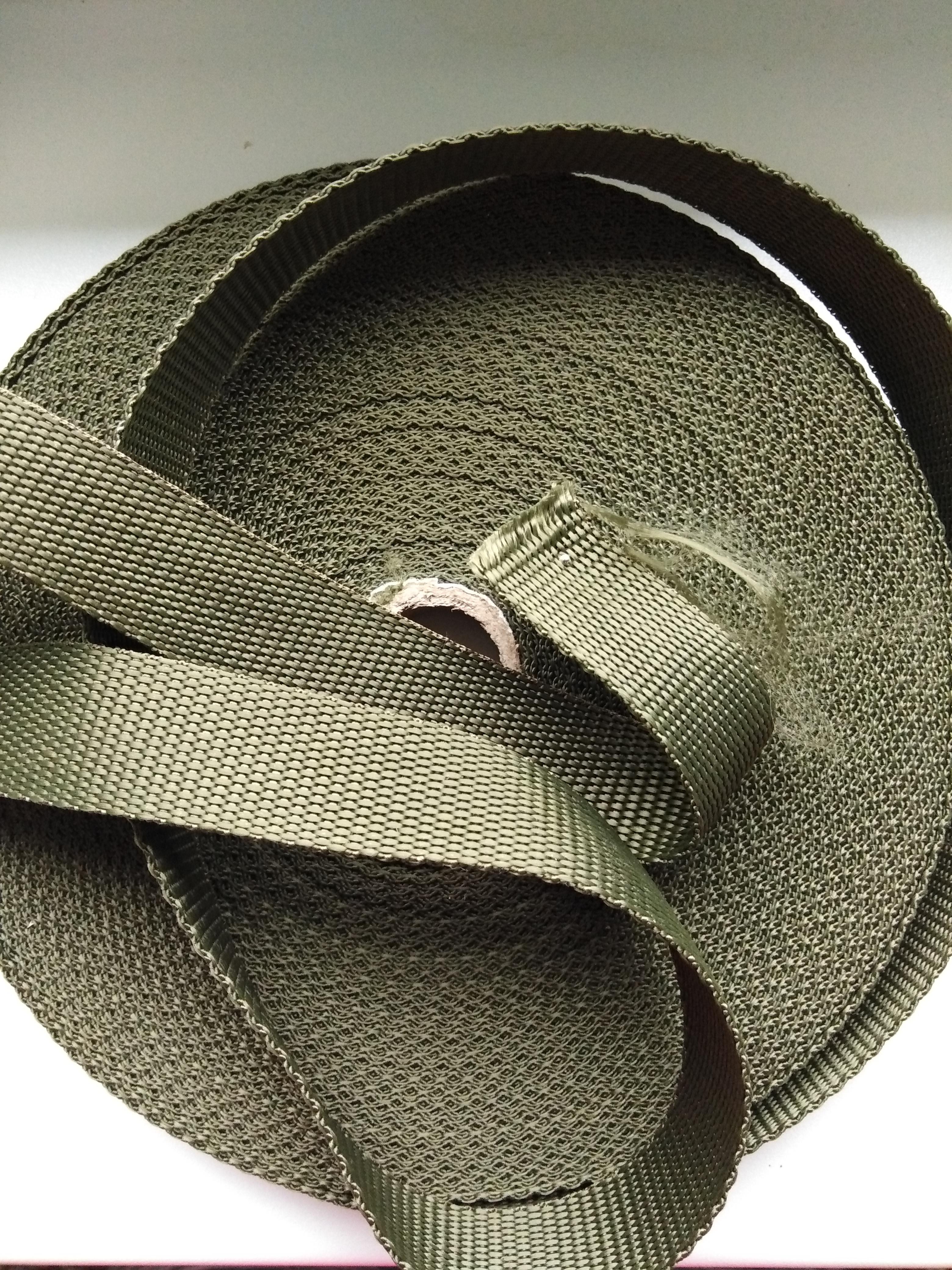 Popruh polypropylenový 25 mm khaki