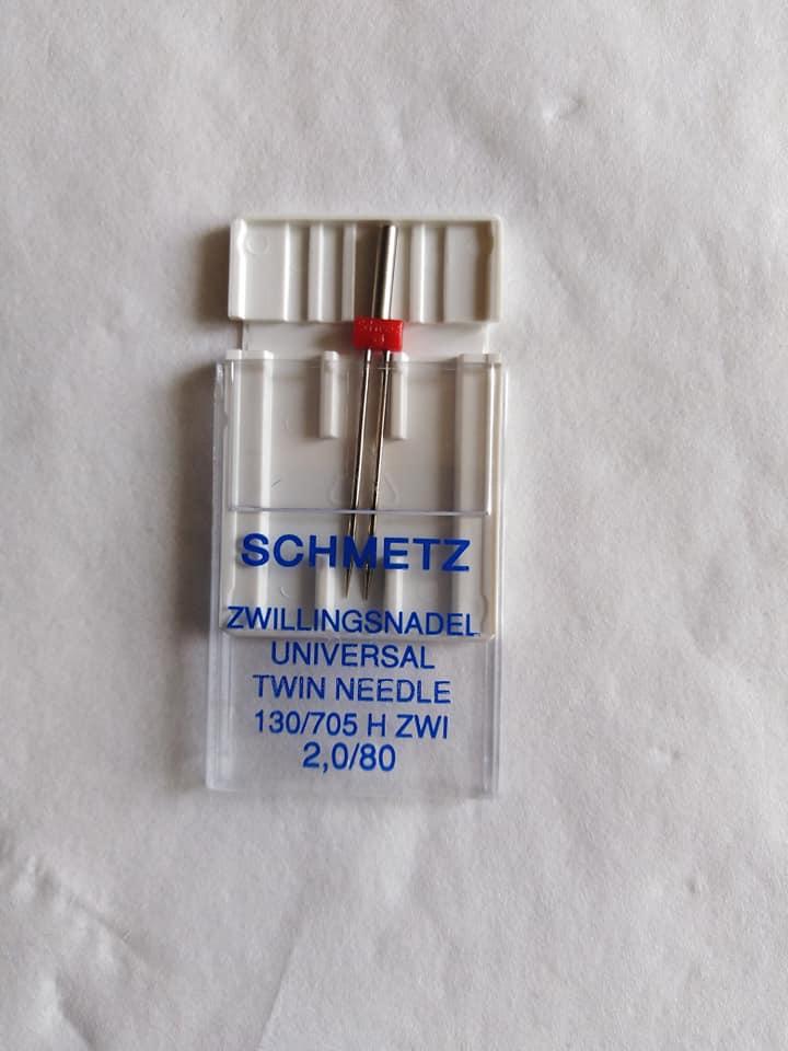 Strojová dvojjehla Schmetz 705 H-ZWI 80/2,0 mm