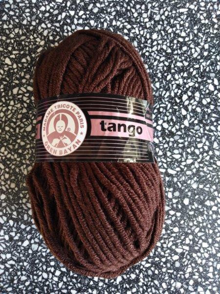 Příze Tango tmavě hnědá 083