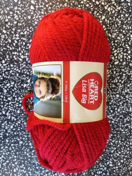 Příze Red Heart Lisa Big červená 0130