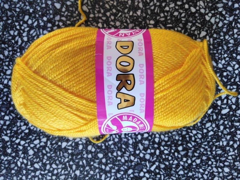 Příze Dora sytě žlutá 029