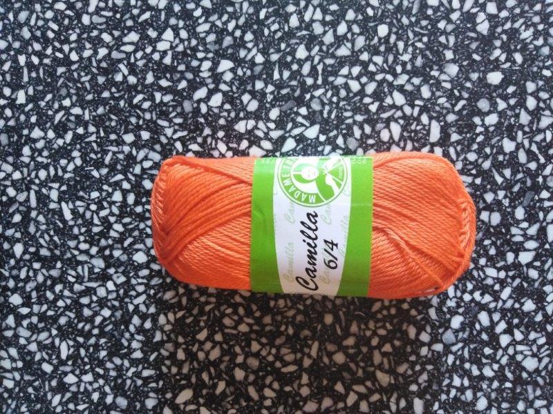 Příze Camilla oranžová 5310