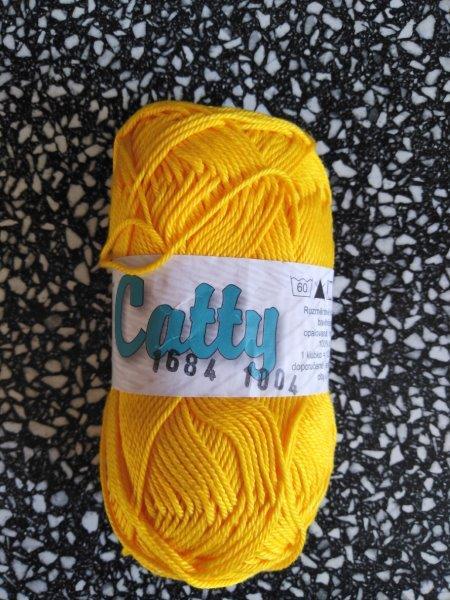 Příze Catty sytě žlutá 1684