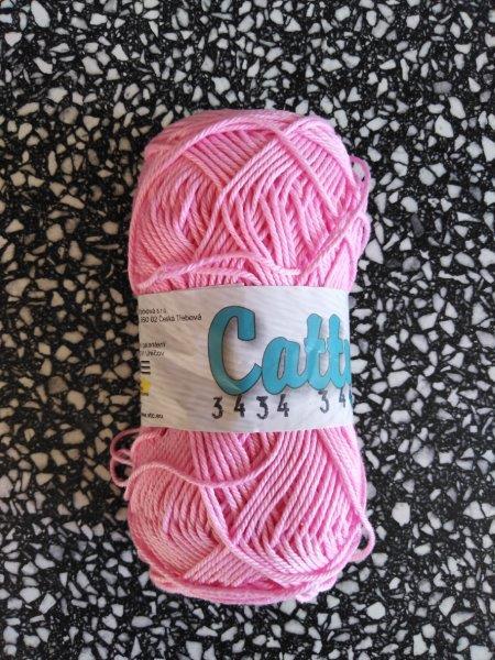 Příze Catty růžová 3434