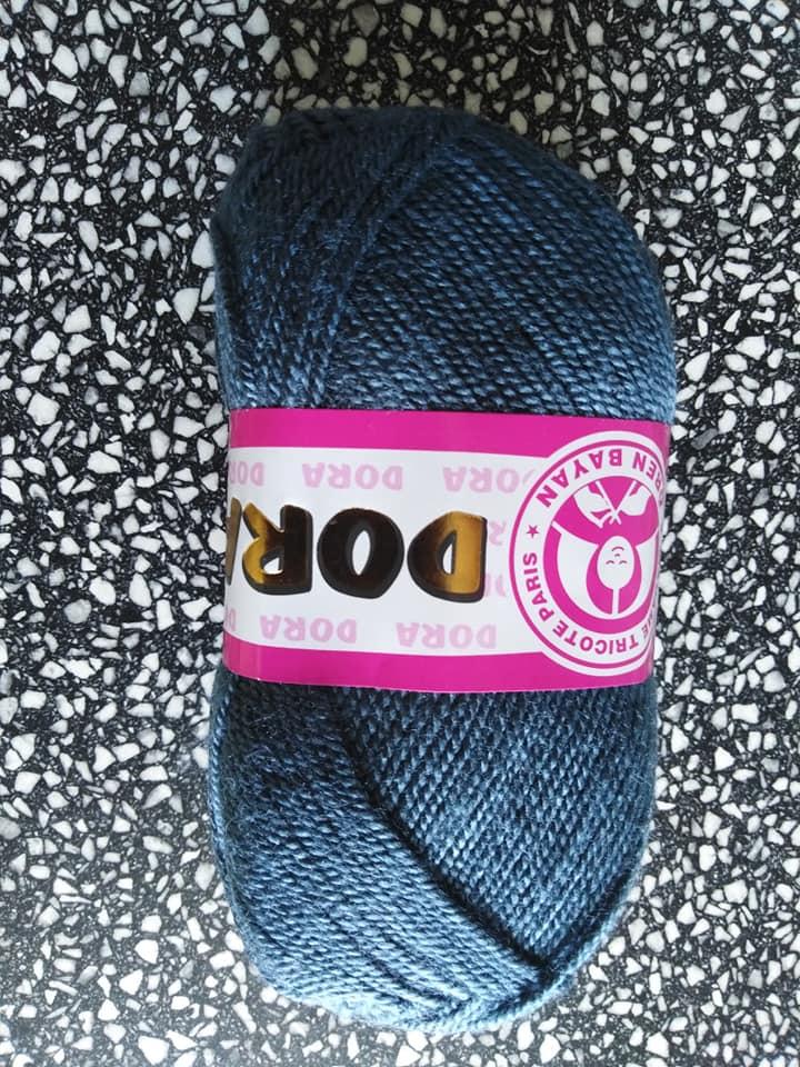 Příze Dora 018 modrošedá