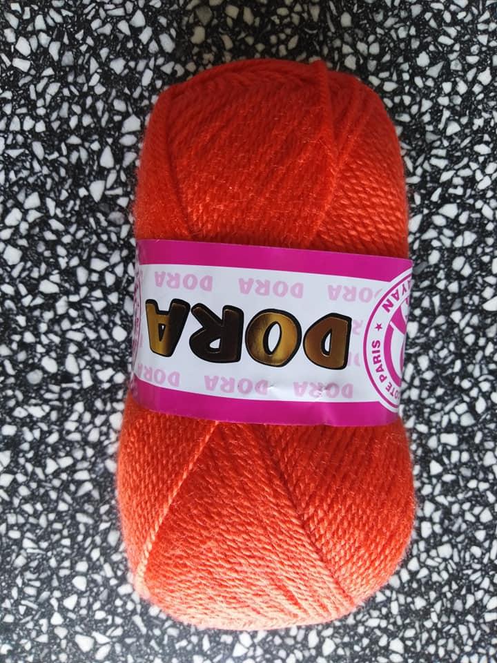 Příze Dora 031 oranžová