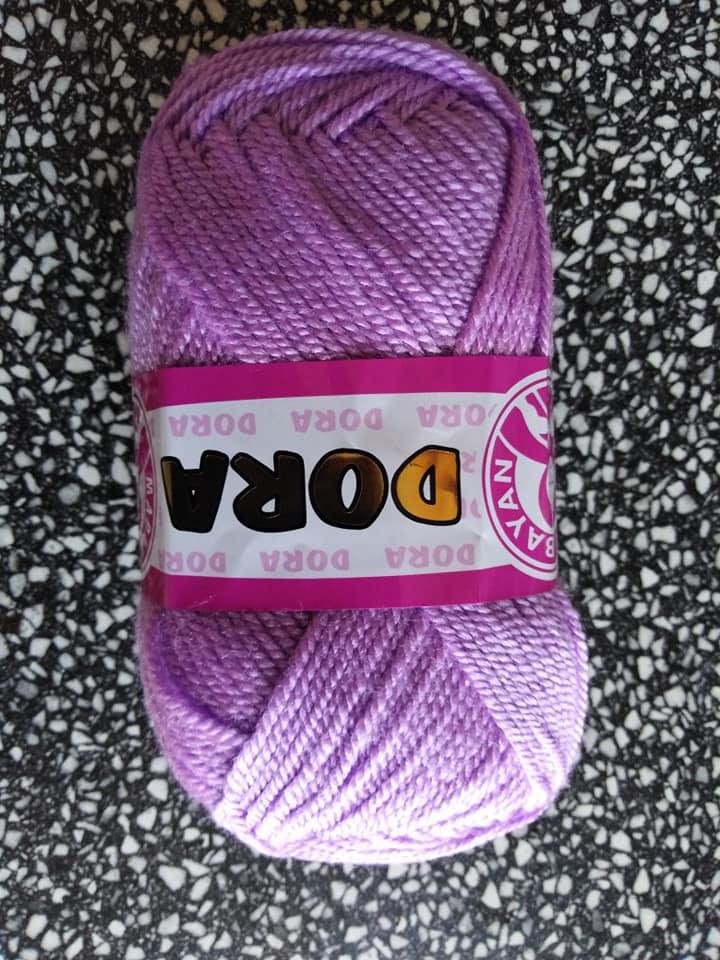 Příze Dora světle fialová 056