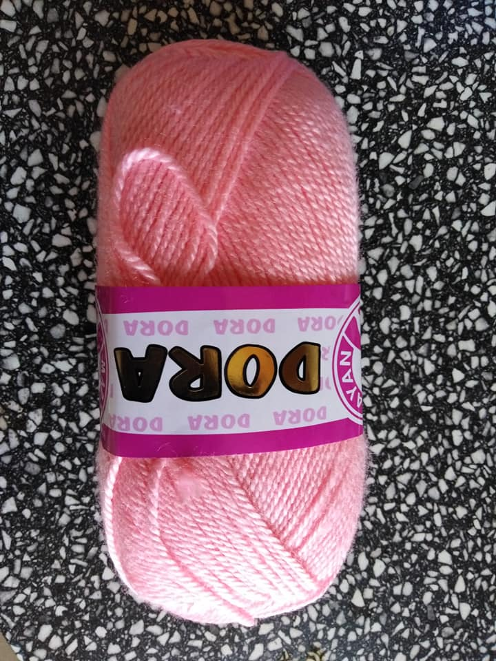 Příze Dora světle růžová 039