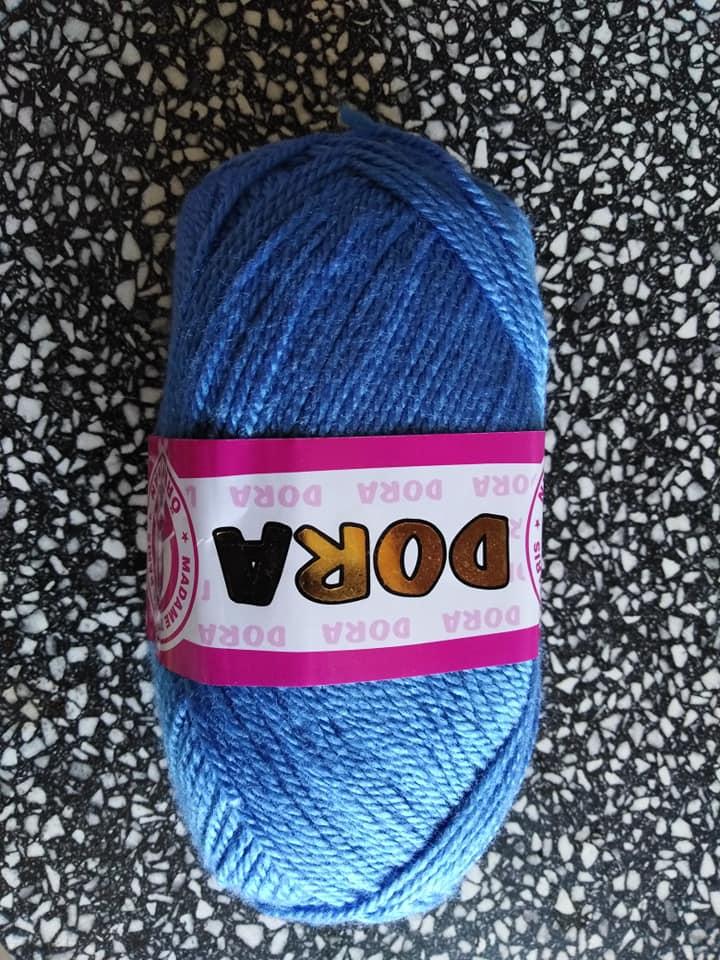 Příze Dora střední modrá 015