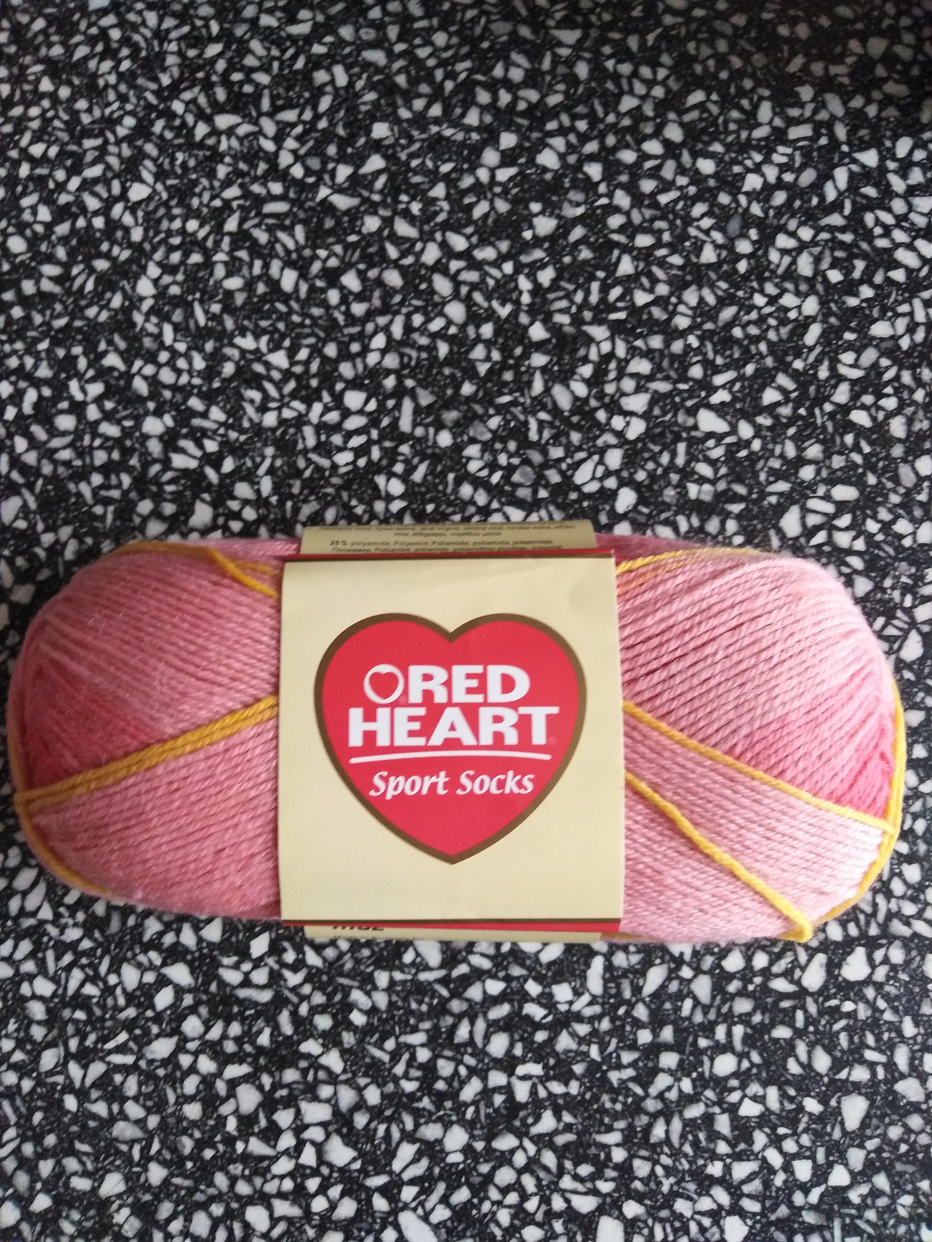 Příze ponožková RED HEART SPORT SOCKS světle červená 7092