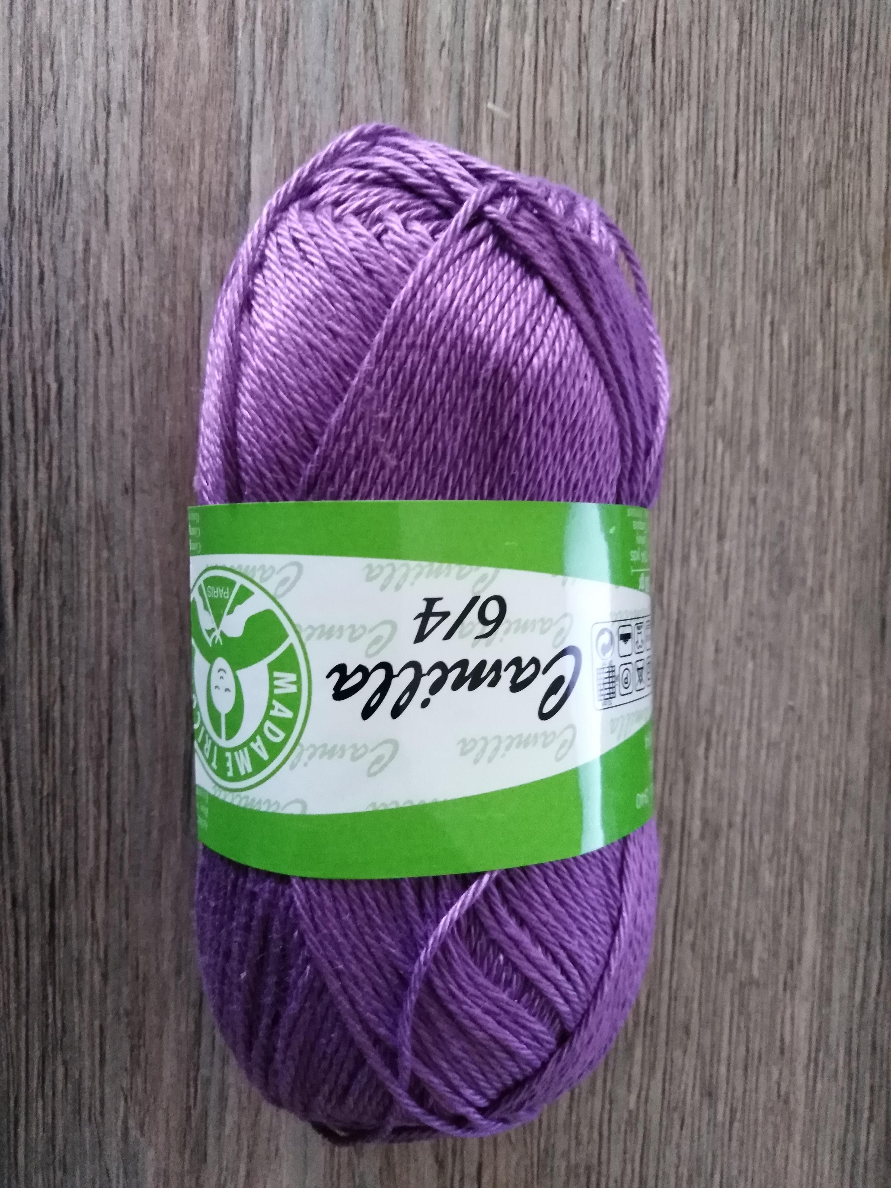 Příze Camilla tmavě fialová 5060