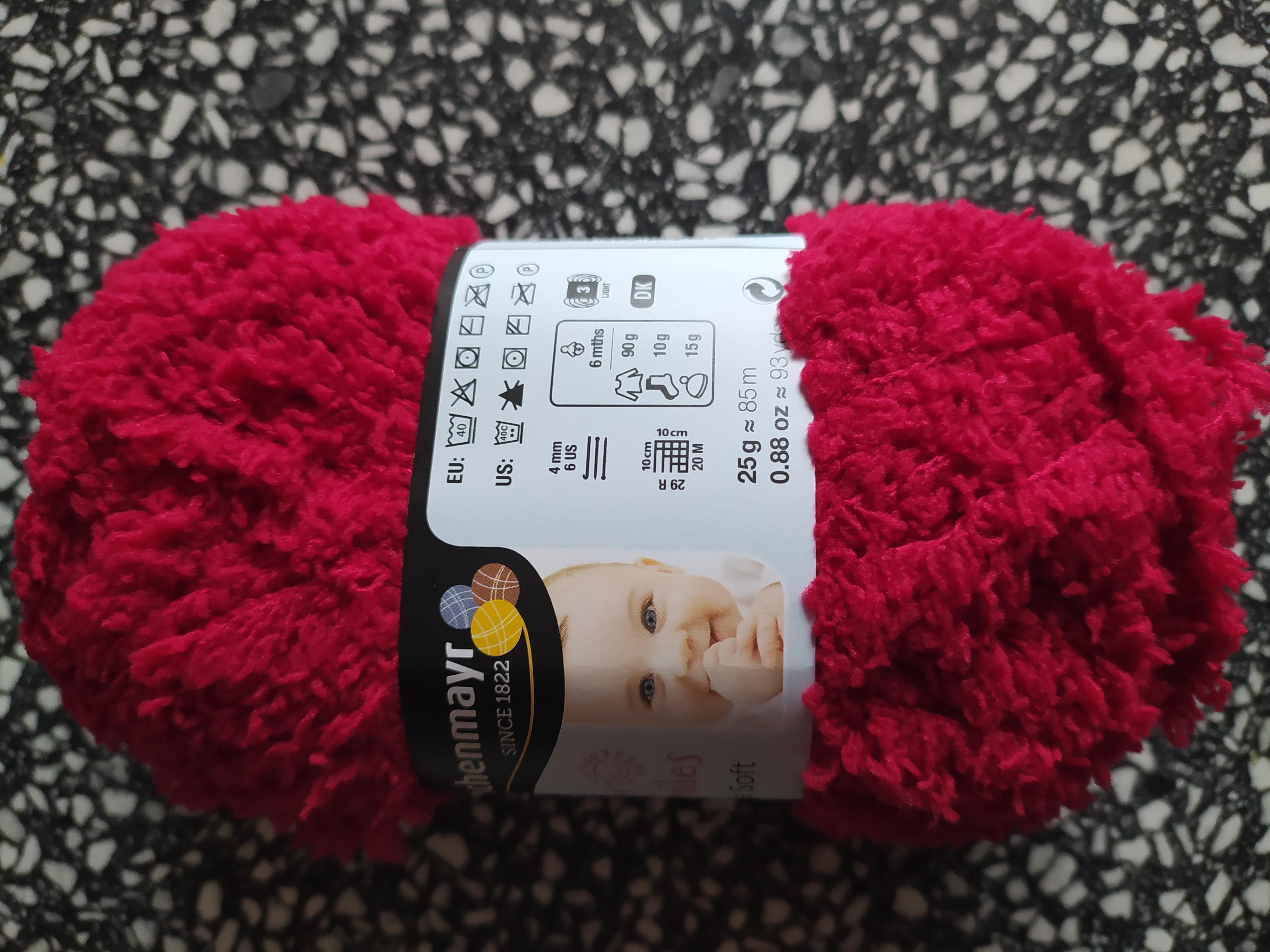 Příze Lenja Soft 25 g třešňová 1031