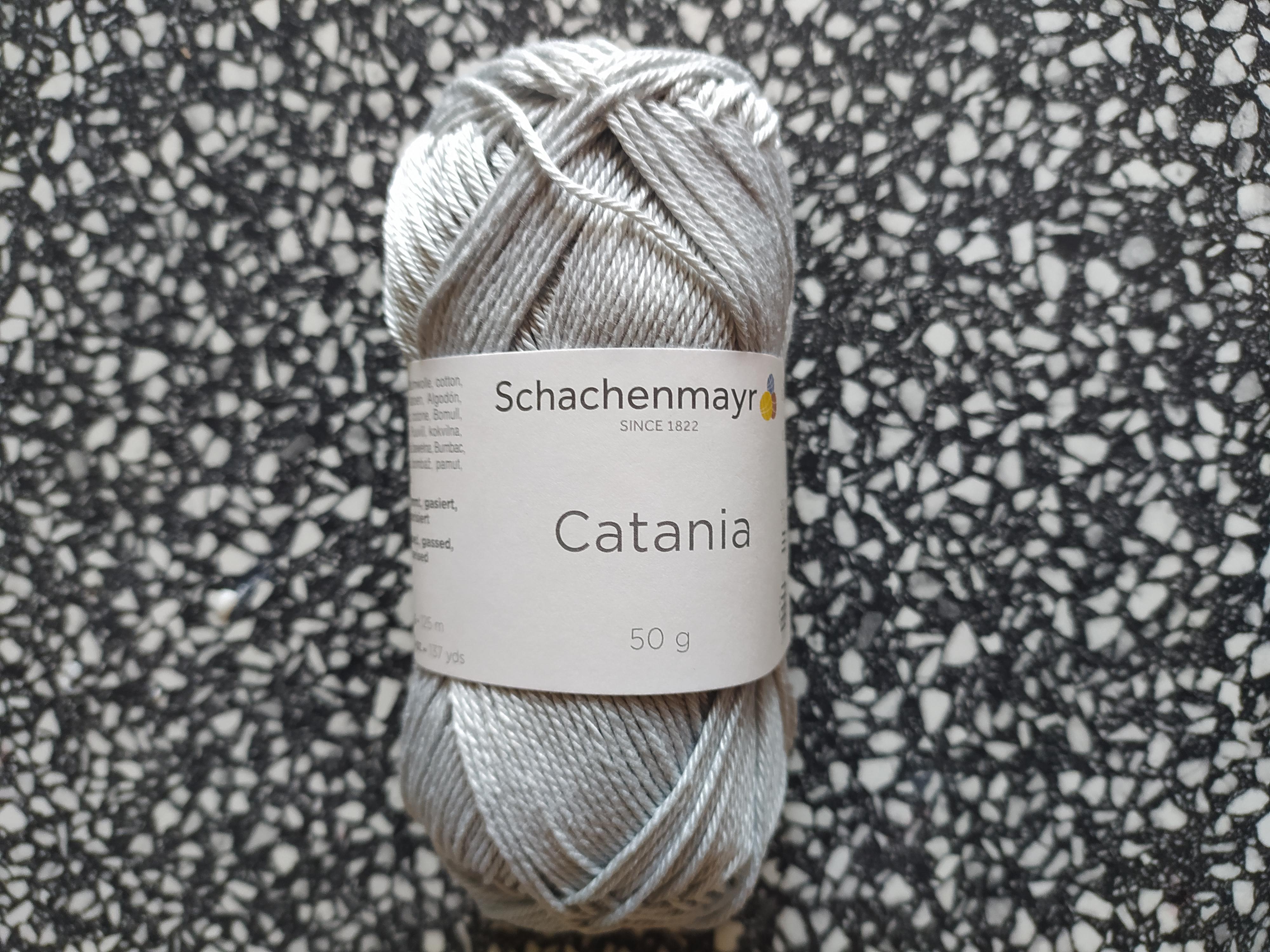 Příze Catania stříbřitá šedá 172
