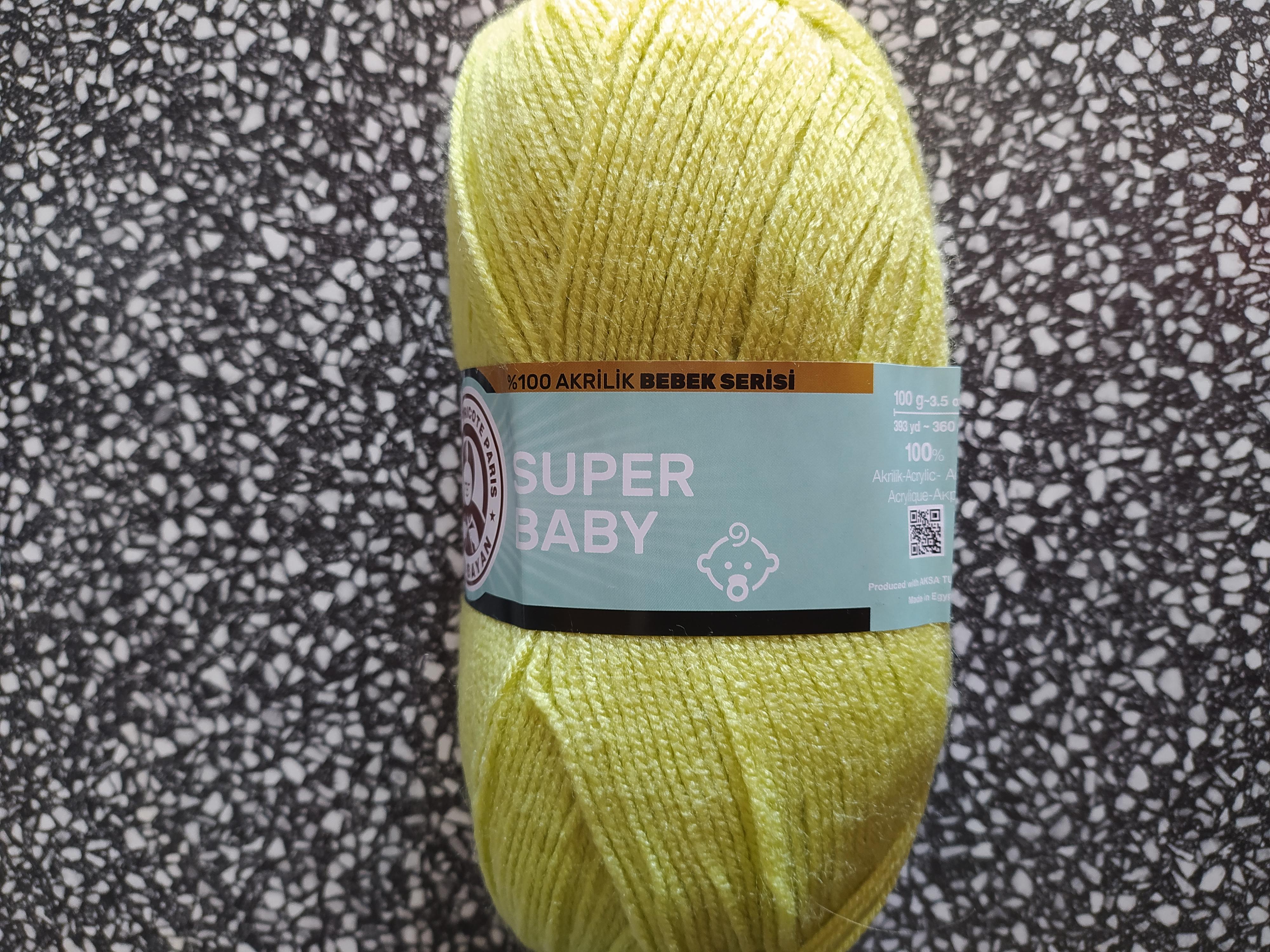 Příze Super Baby žlutozelená 064