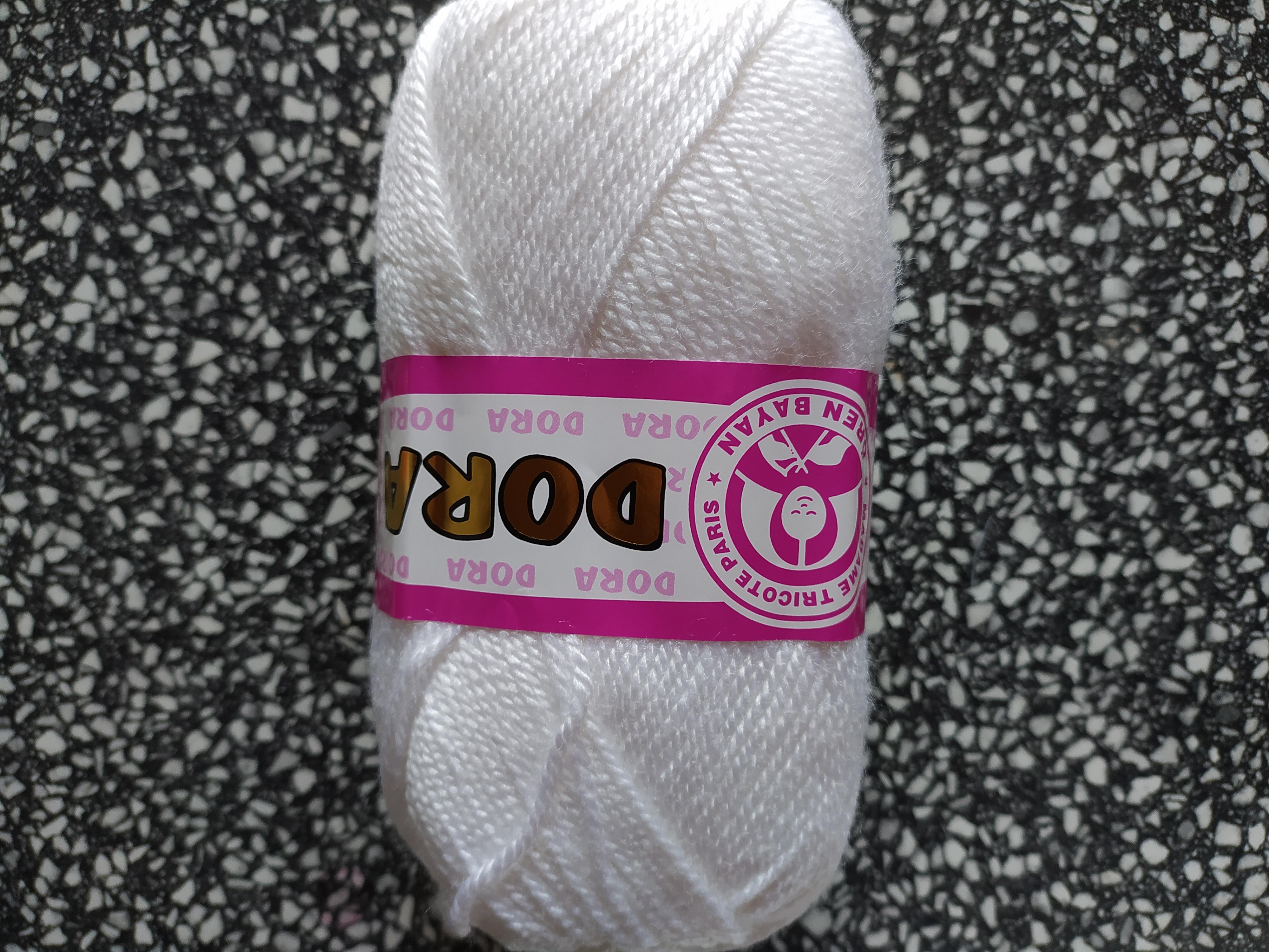 Příze Dora zářivě bílá 100